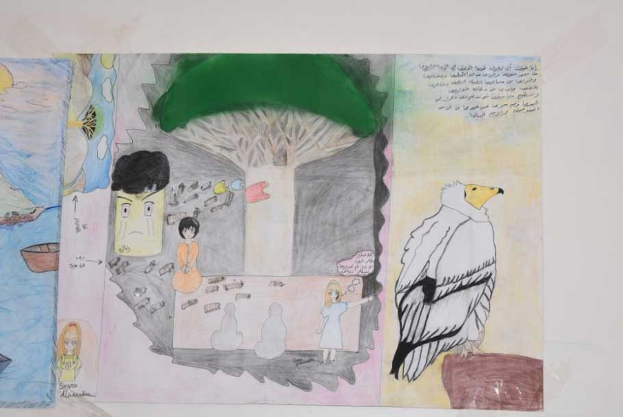 Paintings from the art exhibition