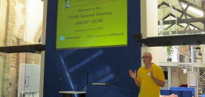 OSME Chairman opening Summer Meeting