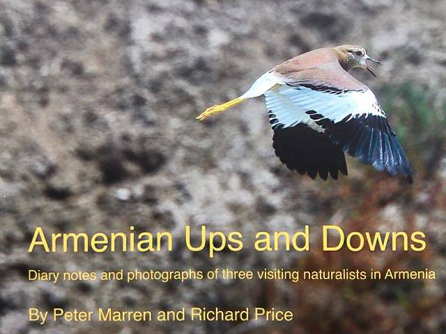 Cover of a book titled Armenian Ups and Downs: Diary notes and photographs of three visiting naturalists in Armenia